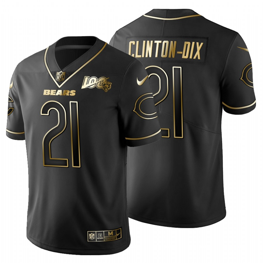 Chicago Bears #21 Ha Ha Clinton-Dix Men's Nike Black Golden Limited NFL 100 Jersey