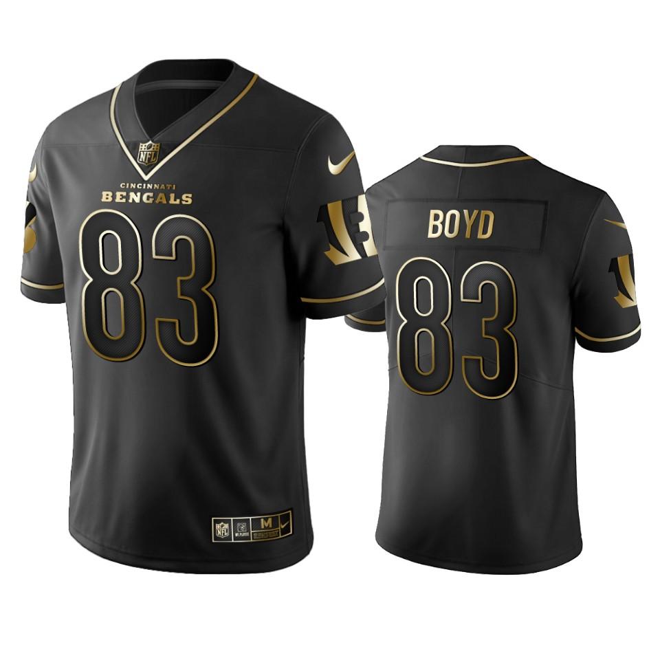 Bengals #83 Tyler Boyd Men's Stitched NFL Vapor Untouchable Limited Black Golden Jersey