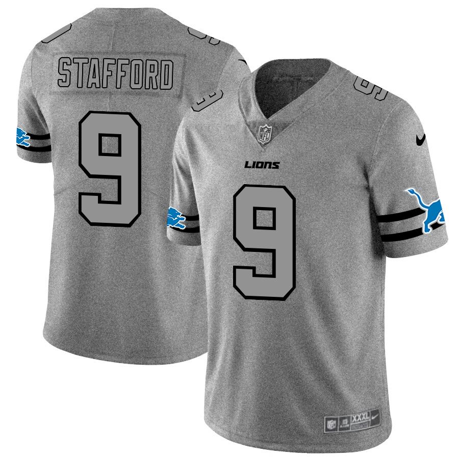 Detroit Lions #9 Matthew Stafford Men's Nike Gray Gridiron II Vapor Untouchable Limited NFL Jersey