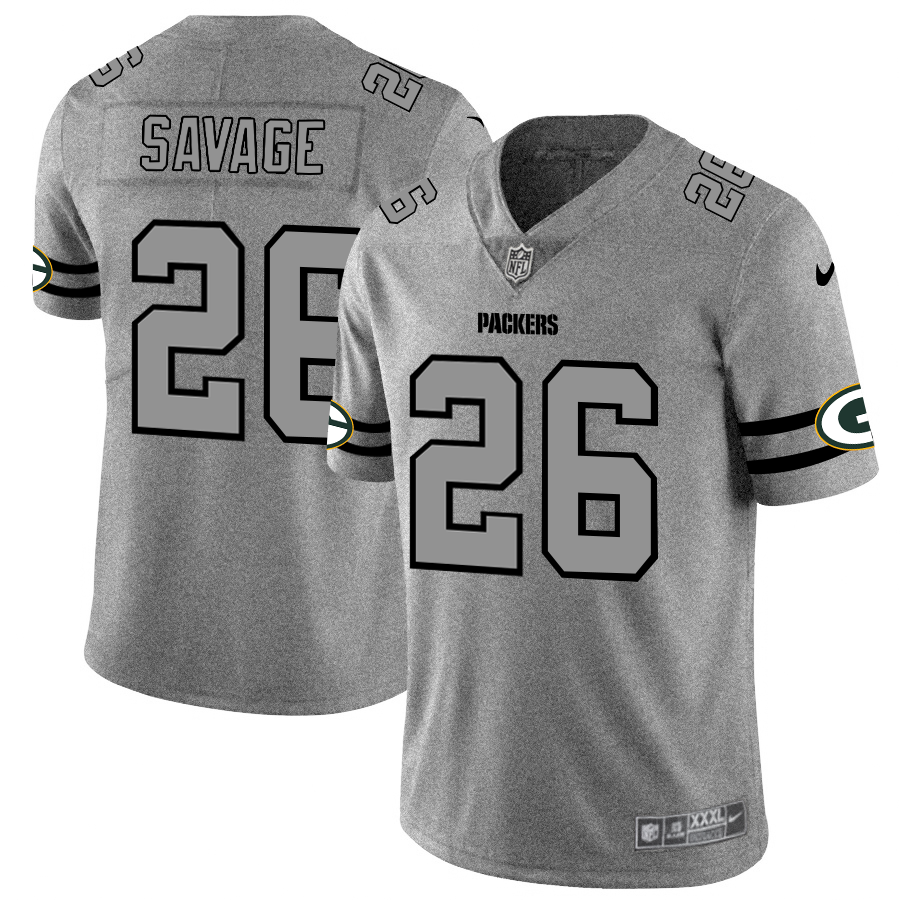 Green Bay Packers #26 Darnell Savage Jr. Men's Nike Gray Gridiron II Vapor Untouchable Limited NFL Jersey