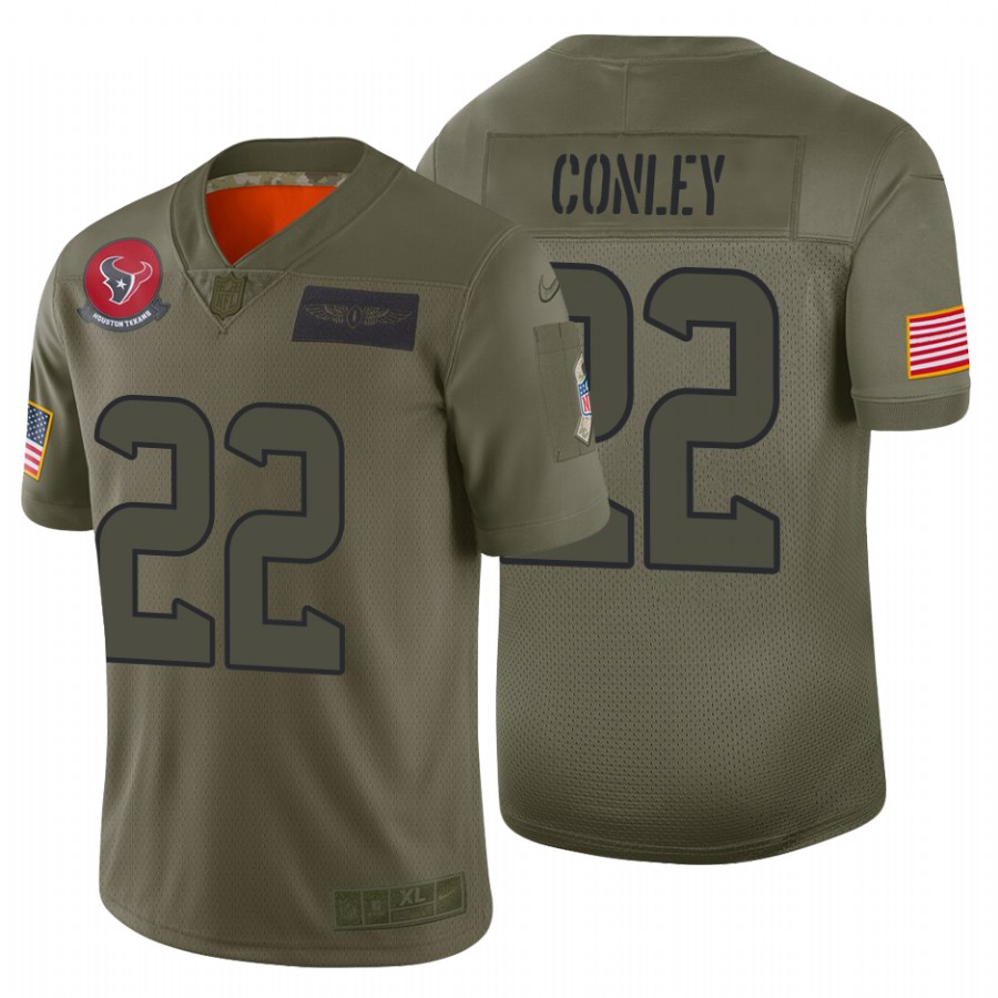 Nike Texans #22 Gareon Conley 2019 Salute To Service Camo Limited NFL Jersey