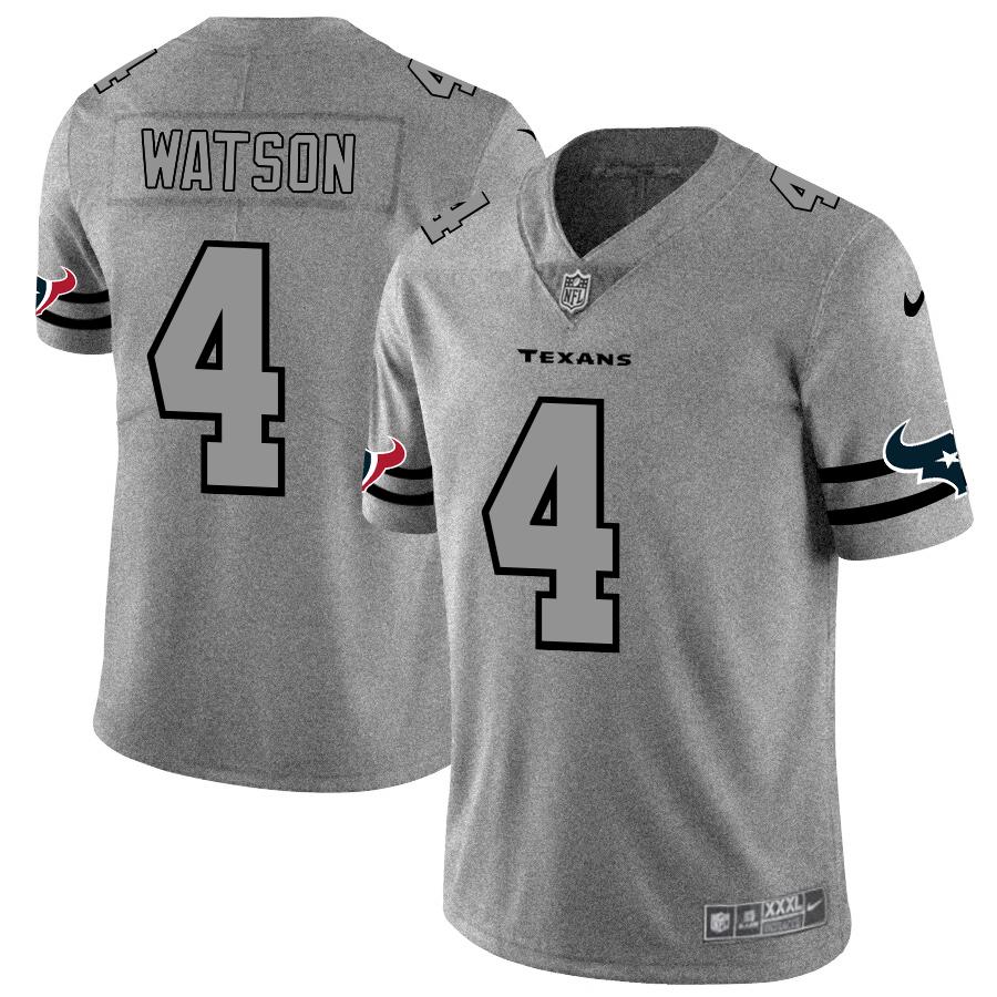 Houston Texans #4 Deshaun Watson Men's Nike Gray Gridiron II Vapor Untouchable Limited NFL Jersey