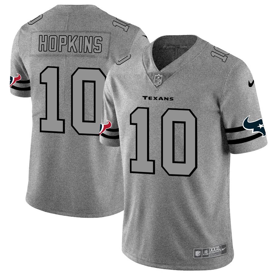 Houston Texans #10 DeAndre Hopkins Men's Nike Gray Gridiron II Vapor Untouchable Limited NFL Jersey
