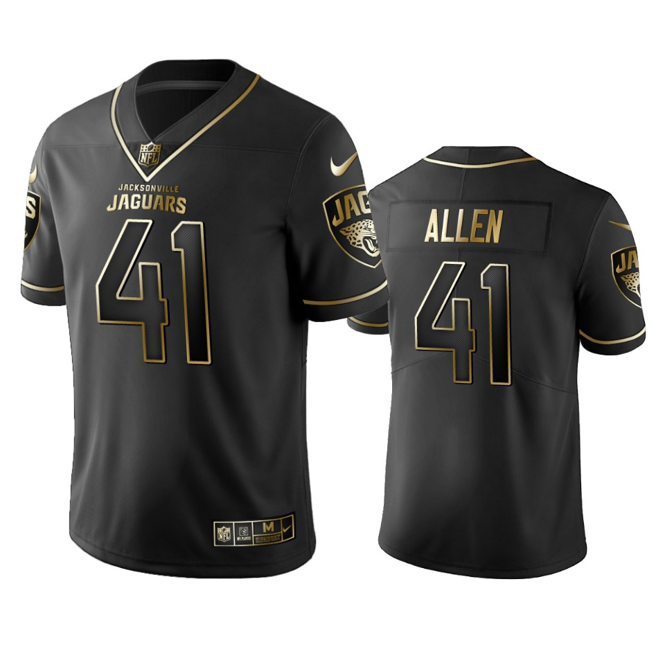 Jaguars #41 Josh Allen Men's Stitched NFL Vapor Untouchable Limited Black Golden Jersey