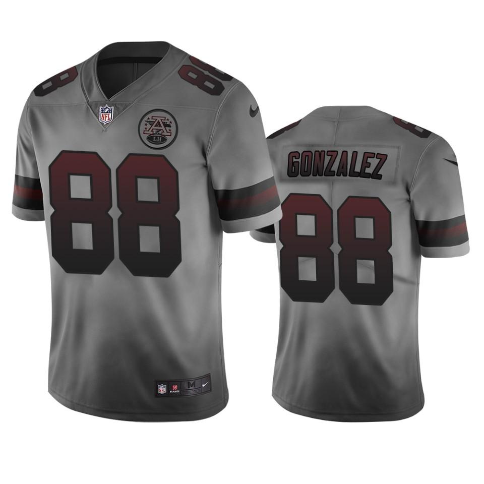 Kansas City Chiefs #88 Tony Gonzalez Smoky Men's Nike Vapor Limited City Edition NFL Jersey