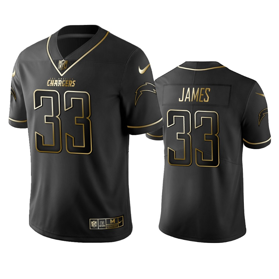 Chargers #33 Derwin James Men's Stitched NFL Vapor Untouchable Limited Black Golden Jersey