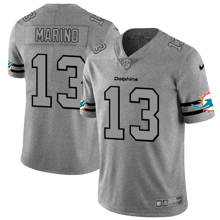 Miami Dolphins #13 Dan Marino Men's Nike Gray Gridiron II Vapor Untouchable Limited NFL Jersey