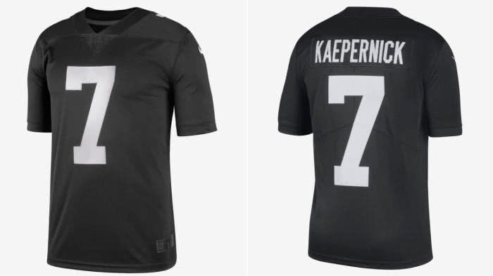 Nike #7 Colin Kaepernick Black Men's Stitched NFL Vapor Untouchable Limited Jersey