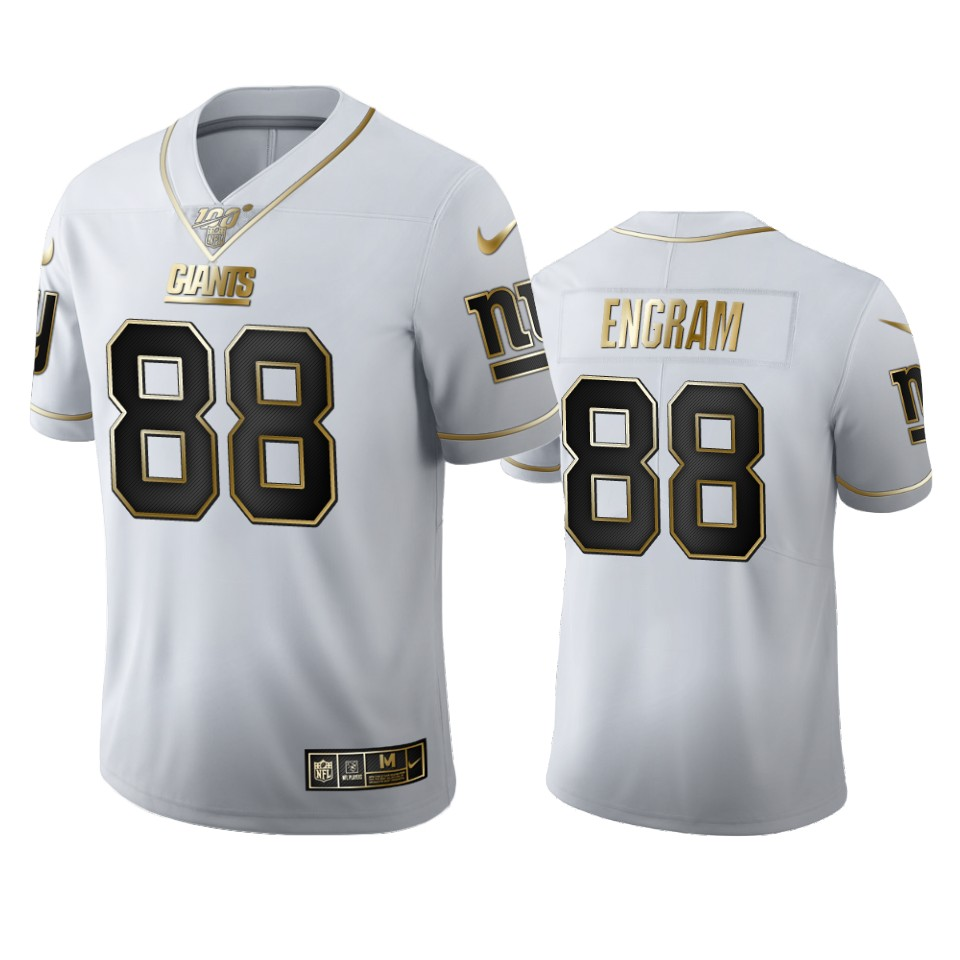 New York Giants #88 Evan Engram Men's Nike White Golden Edition Vapor Limited NFL 100 Jersey