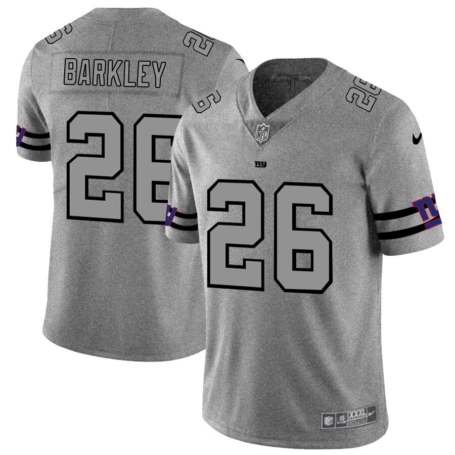 New York Giants #26 Saquon Barkley Men's Nike Gray Gridiron II Vapor Untouchable Limited NFL Jersey