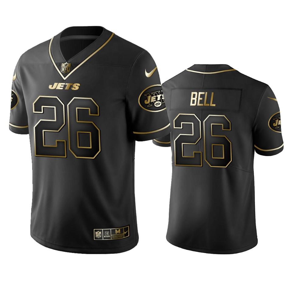 Jets #26 Le'veon Bell Men's Stitched NFL Vapor Untouchable Limited Black Golden Jersey