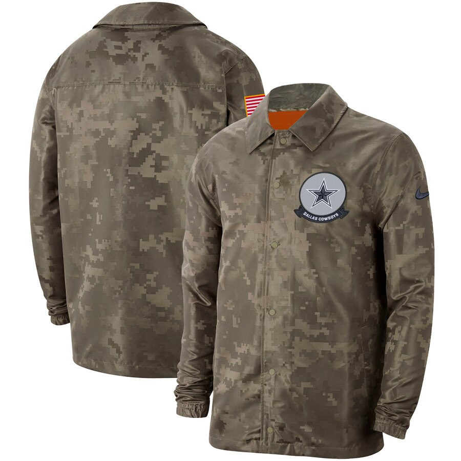 Men's Dallas Cowboys Nike Camo 2019 Salute to Service Sideline Full-Zip Lightweight Jacket