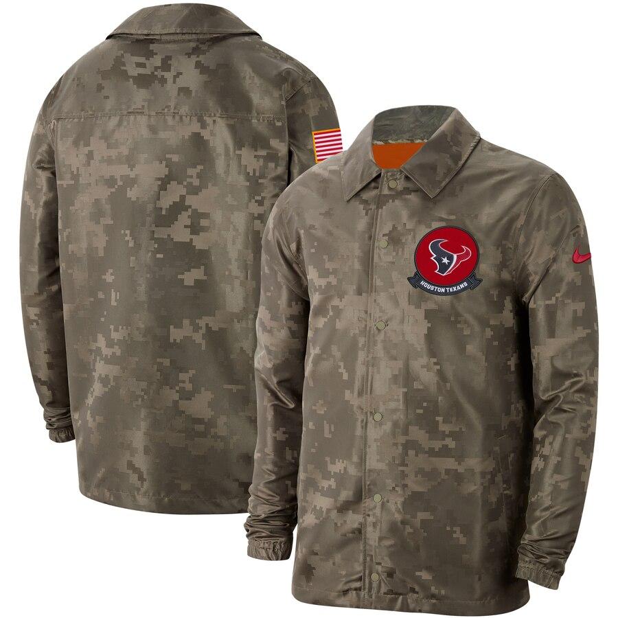 Men's Houston Texans Nike Camo 2019 Salute to Service Sideline Full-Zip Lightweight Jacket