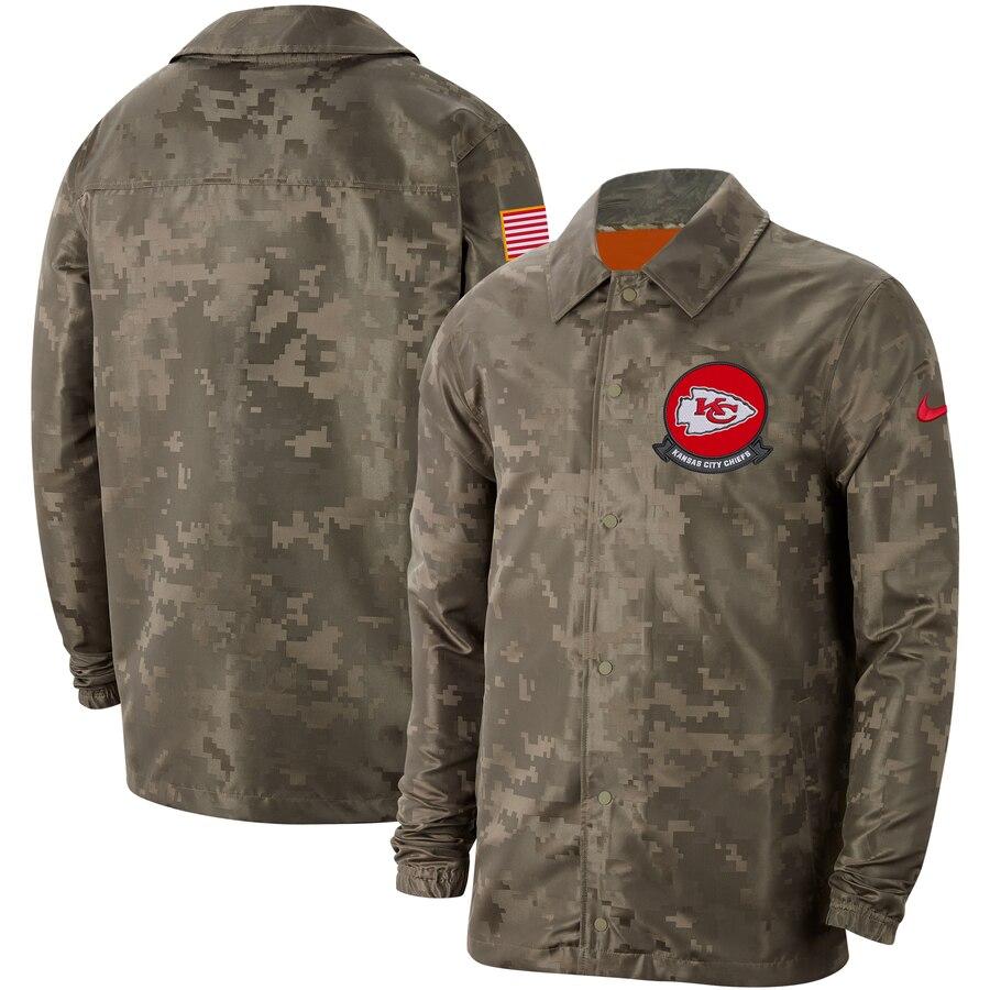 Men's Kansas City Chiefs Nike Camo 2019 Salute to Service Sideline Full-Zip Lightweight Jacket