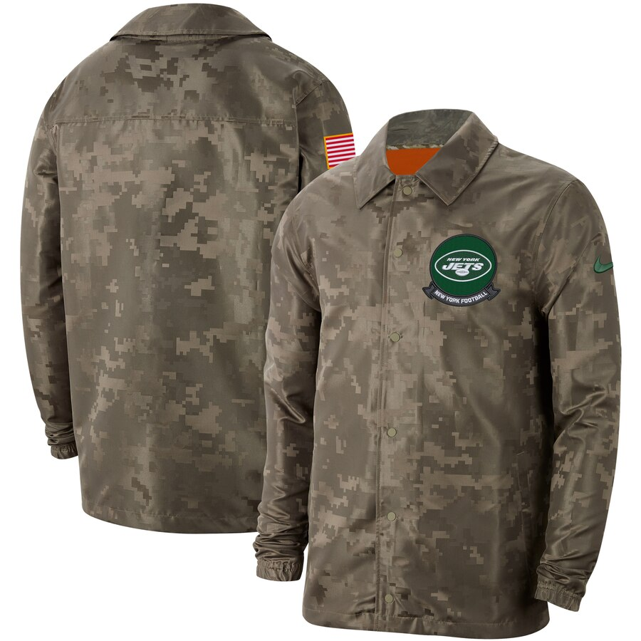 Men's New York Jets Nike Camo 2019 Salute to Service Sideline Full-Zip Lightweight Jacket