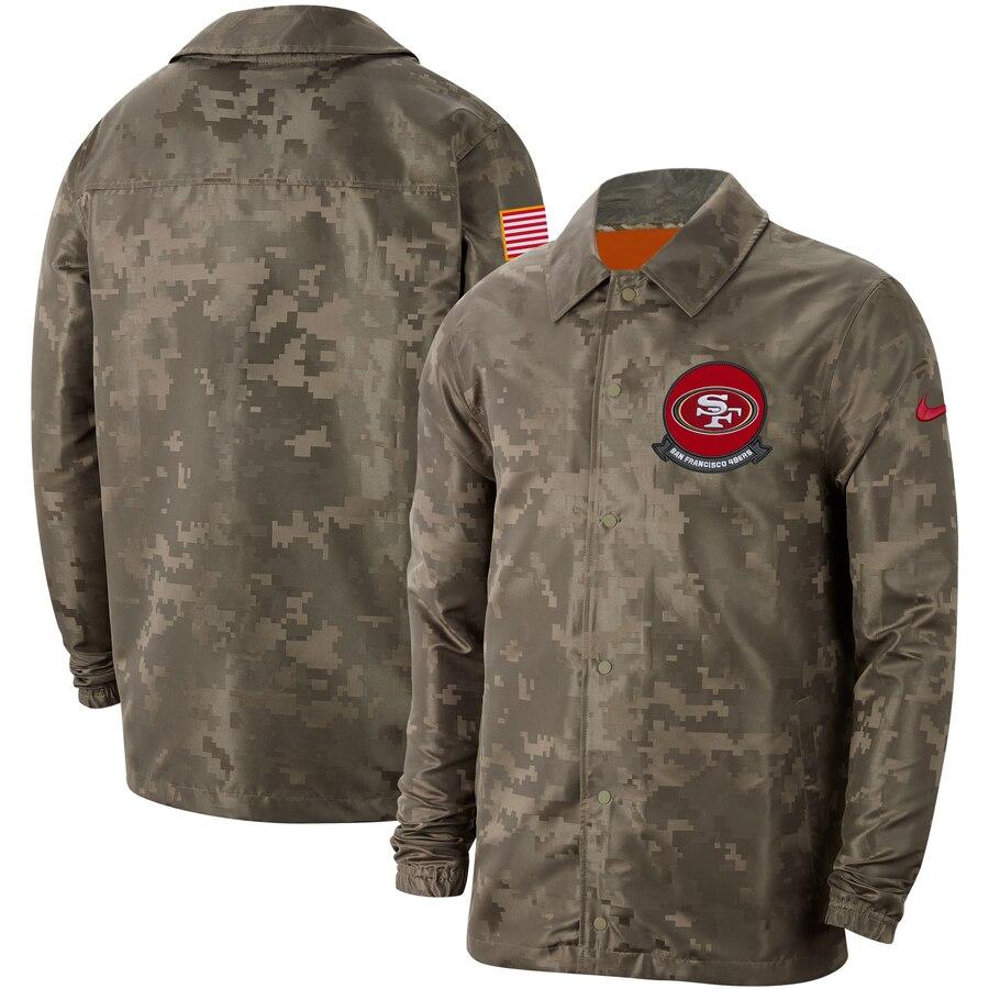 Men's San Francisco 49ers Nike Camo 2019 Salute to Service Sideline Full-Zip Lightweight Jacket