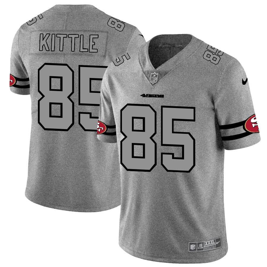 San Francisco 49ers #85 George Kittle Men's Nike Gray Gridiron II Vapor Untouchable Limited NFL Jersey