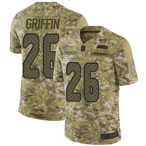 Nike Seahawks #26 Shaquem Griffin Camo Men's Stitched NFL Limited 2018 Salute To Service Jersey