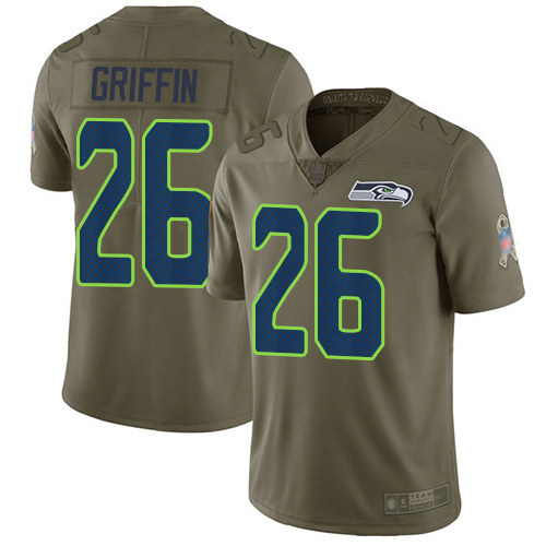 Nike Seahawks #26 Shaquem Griffin Olive Men's Stitched NFL Limited 2017 Salute To Service Jersey