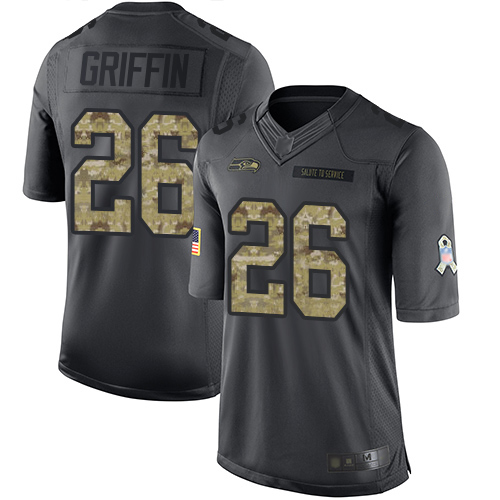 Nike Seahawks #26 Shaquem Griffin Black Men's Stitched NFL Limited 2016 Salute to Service Jersey