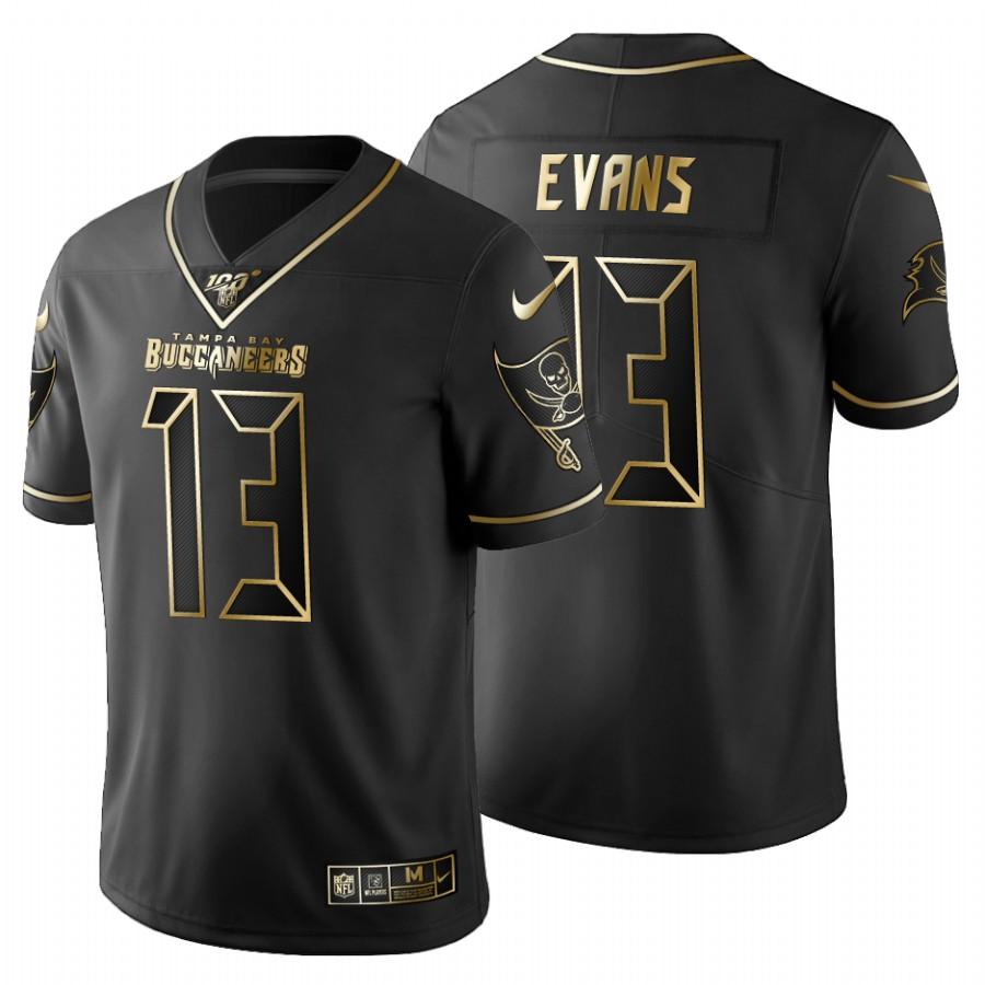 Tampa Bay Buccaneers #13 Mike Evans Men's Nike Black Golden Limited NFL 100 Jersey