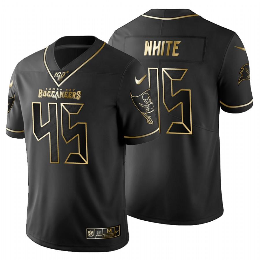 Tampa Bay Buccaneers #45 Devin White Men's Nike Black Golden Limited NFL 100 Jersey