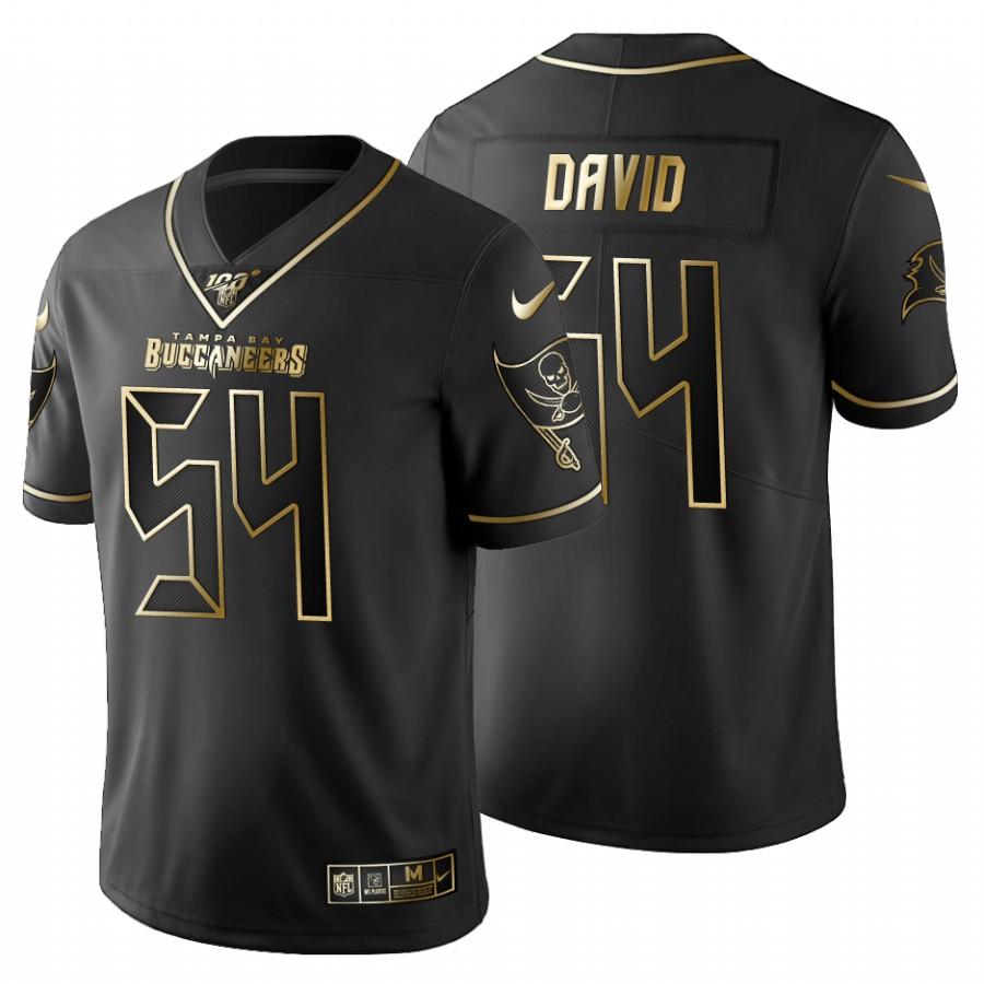 Tampa Bay Buccaneers #54 Lavonte David Men's Nike Black Golden Limited NFL 100 Jersey