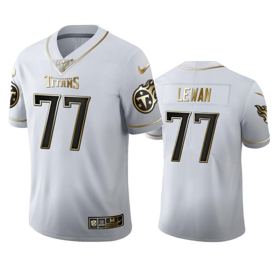Tennessee Titans #77 Taylor Lewan Men's Nike White Golden Edition Vapor Limited NFL 100 Jersey