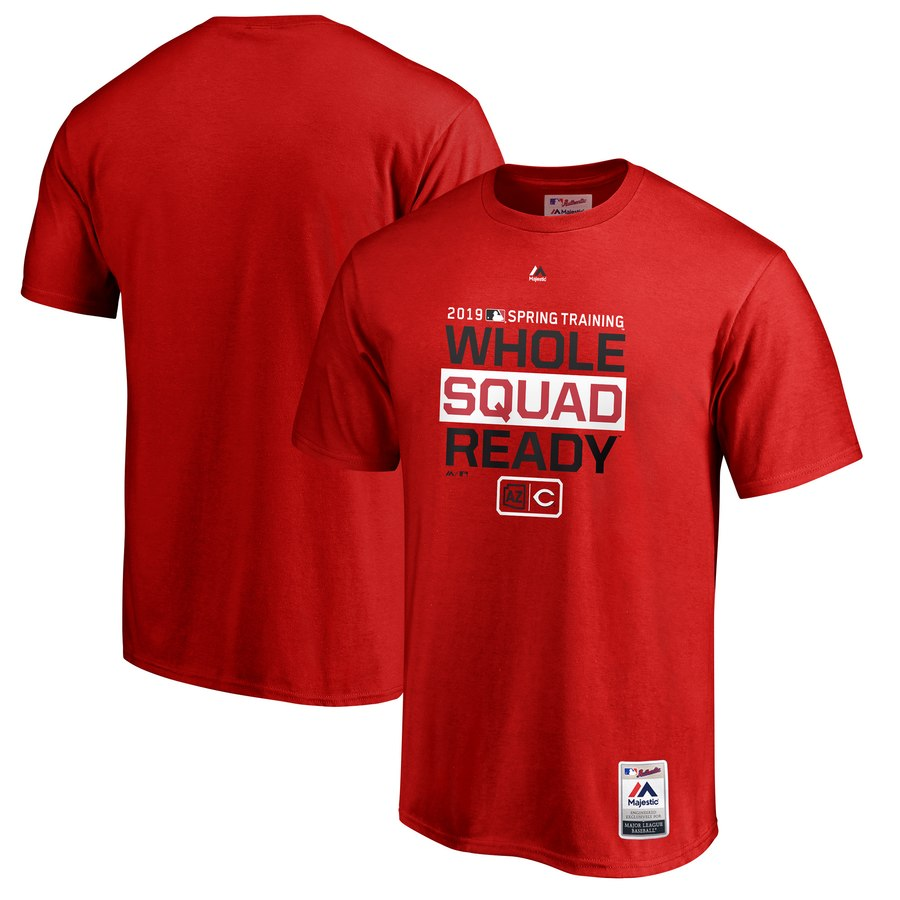 Cincinnati Reds Majestic 2019 Spring Training Authentic Collection T-Shirt Red