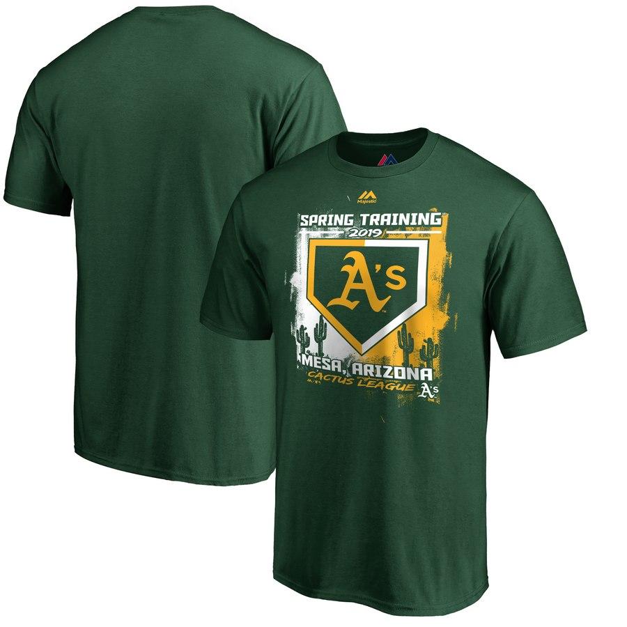 Oakland Athletics Majestic 2019 Spring Training Cactus League Base on Ball T-Shirt Green