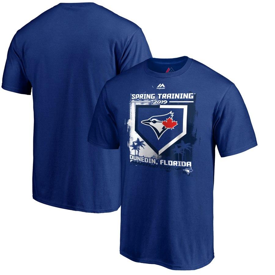 Toronto Blue Jays Majestic 2019 Spring Training Grapefruit League Base on Ball T-Shirt Royal