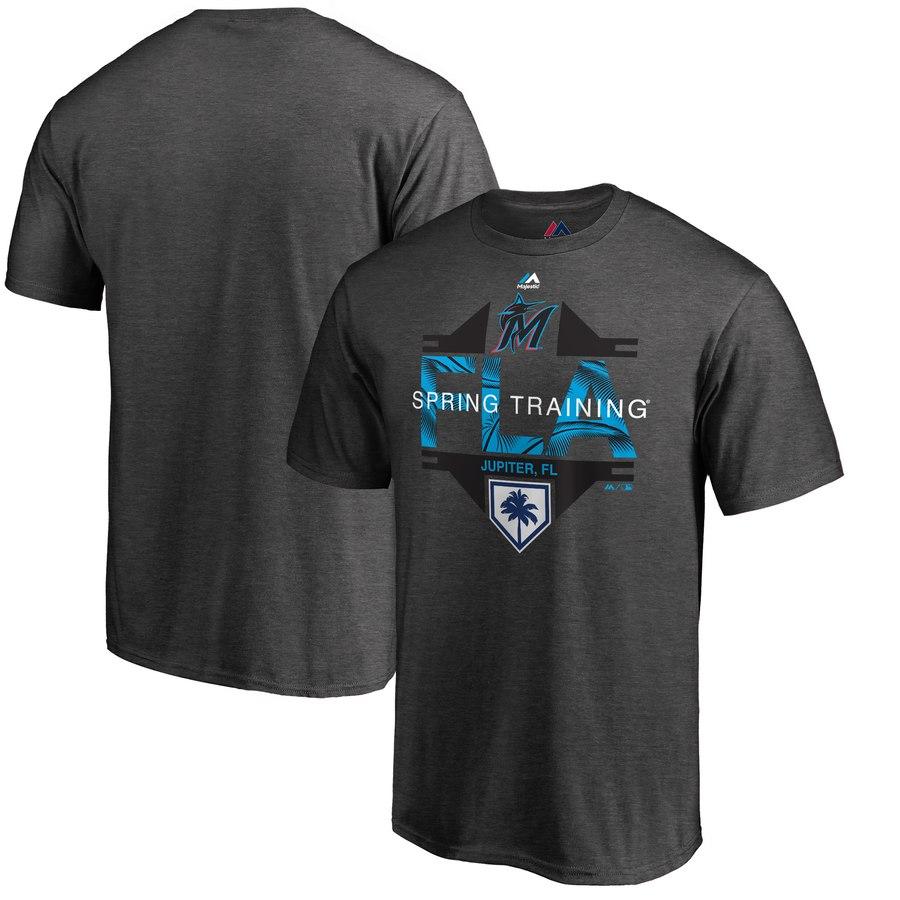 Miami Marlins Majestic 2019 Spring Training Grapefruit League Big & Tall Winner T-Shirt Gray