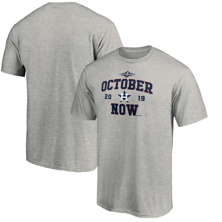 Houston Astros Majestic 2019 Postseason ACE T-Shirt Heather Gray