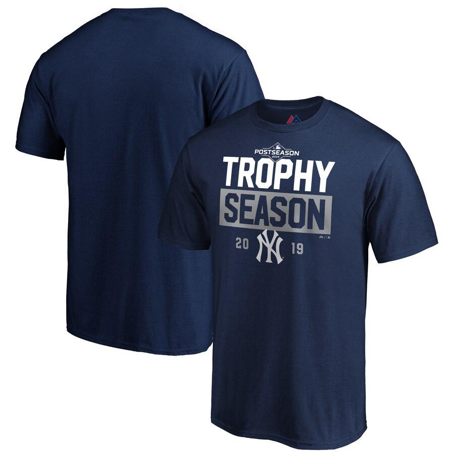 New York Yankees Majestic 2019 Postseason Around the Horn T-Shirt Navy