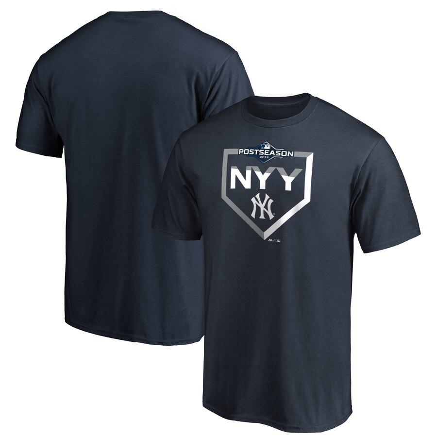 New York Yankees Majestic 2019 Postseason Dugout Authentic T-Shirt Navy