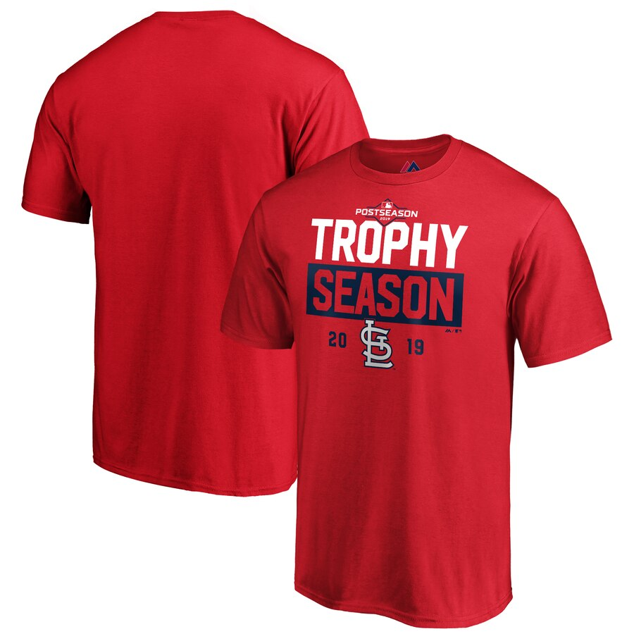 St. Louis Cardinals Majestic 2019 Postseason Around the Horn T-Shirt Red