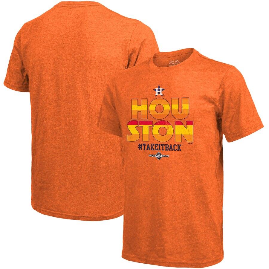 Houston Astros Majestic Threads 2019 World Series Bound Hometown T-Shirt Orange