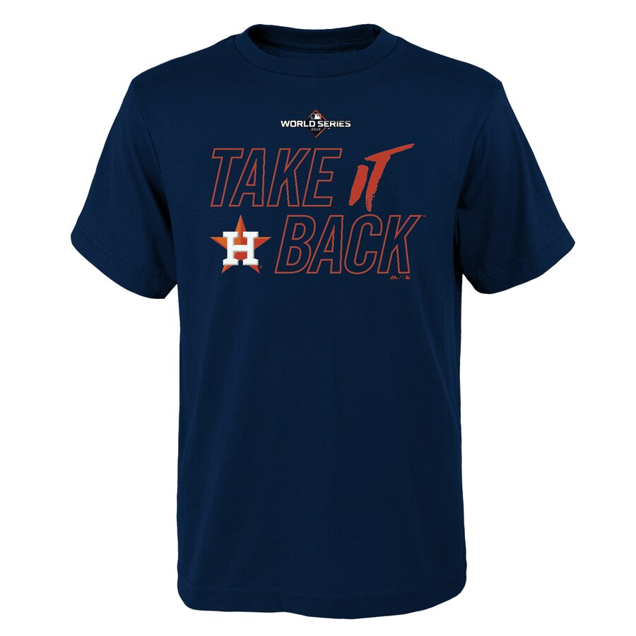 Houston Astros Majestic Youth 2019 World Series Bound Authentic Collection T-Shirt Navy