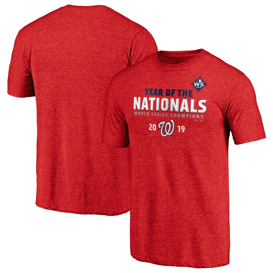 Washington Nationals Majestic 2019 World Series Champions Complete Game T-Shirt Heather Red
