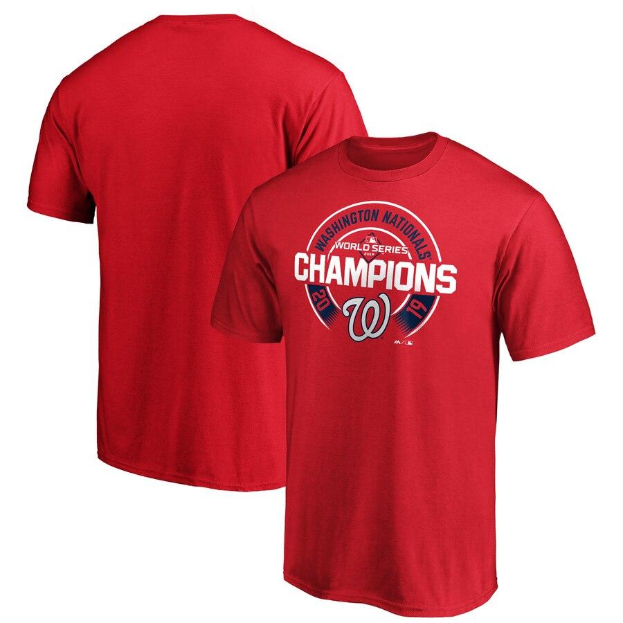 Washington Nationals Majestic 2019 World Series Champions Forkball T-Shirt Red
