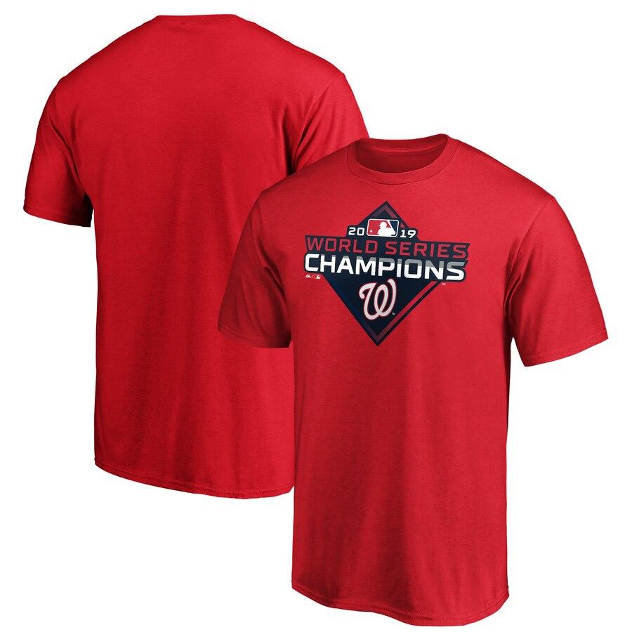 Washington Nationals Majestic 2019 World Series Champions Logo T-Shirt Red