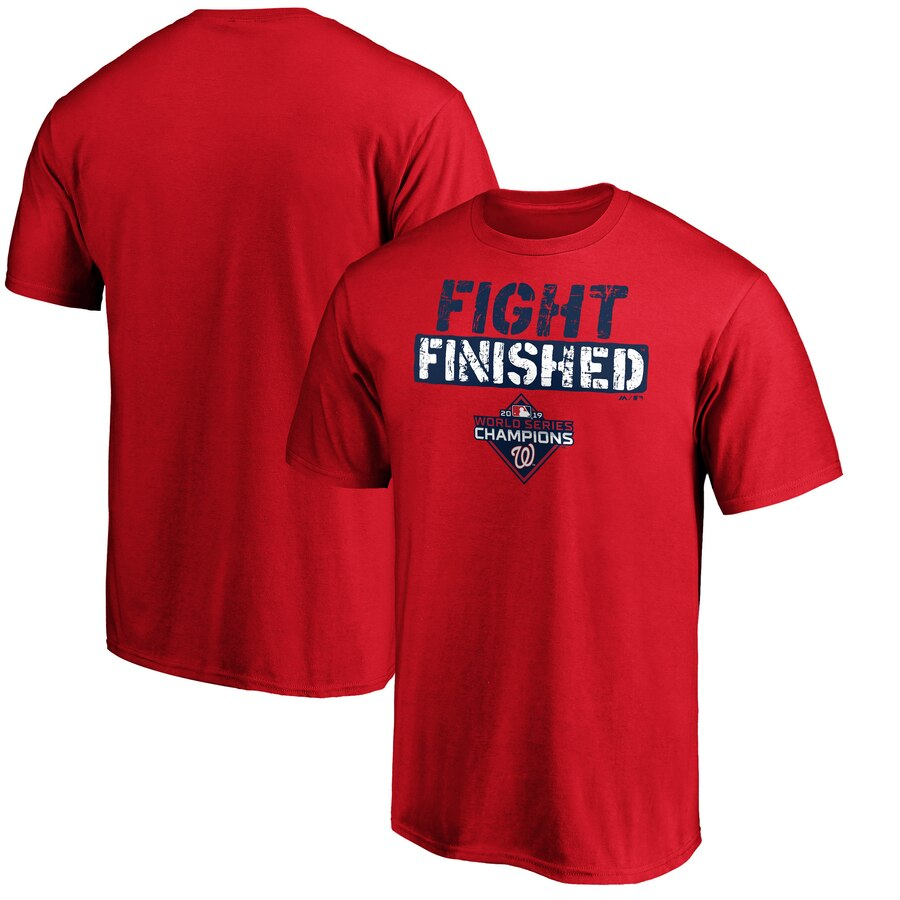 Washington Nationals Majestic 2019 World Series Champions Slogan T-Shirt Red