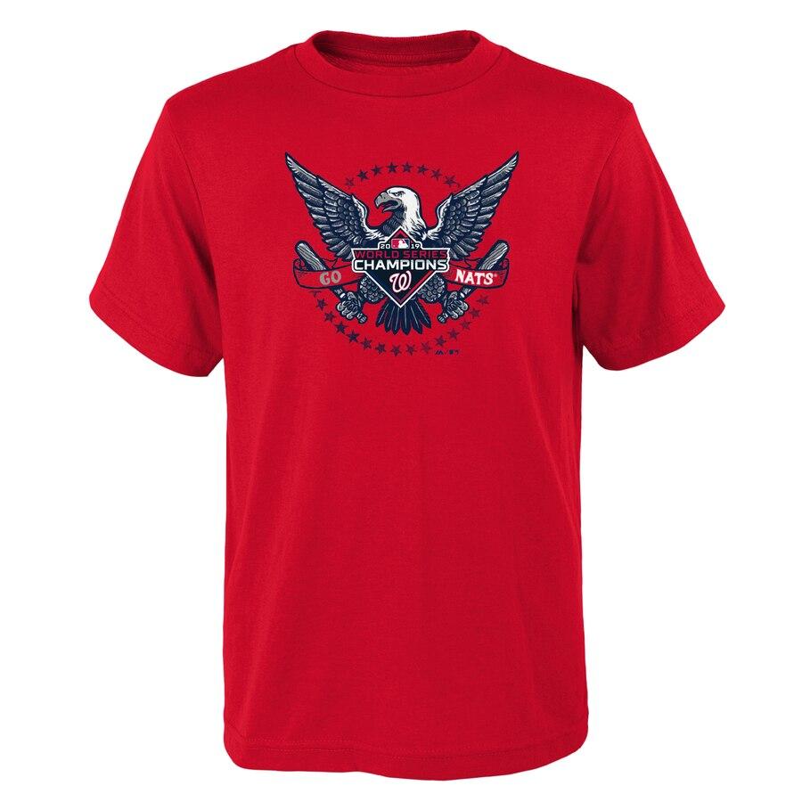 Washington Nationals Majestic Youth 2019 World Series Champions Neighborhood Play T-Shirt Red