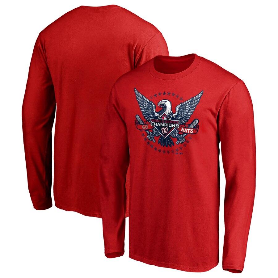 Washington Nationals Majestic 2019 World Series Champions Hometown Neighborhood Play Long Sleeve T-Shirt Red