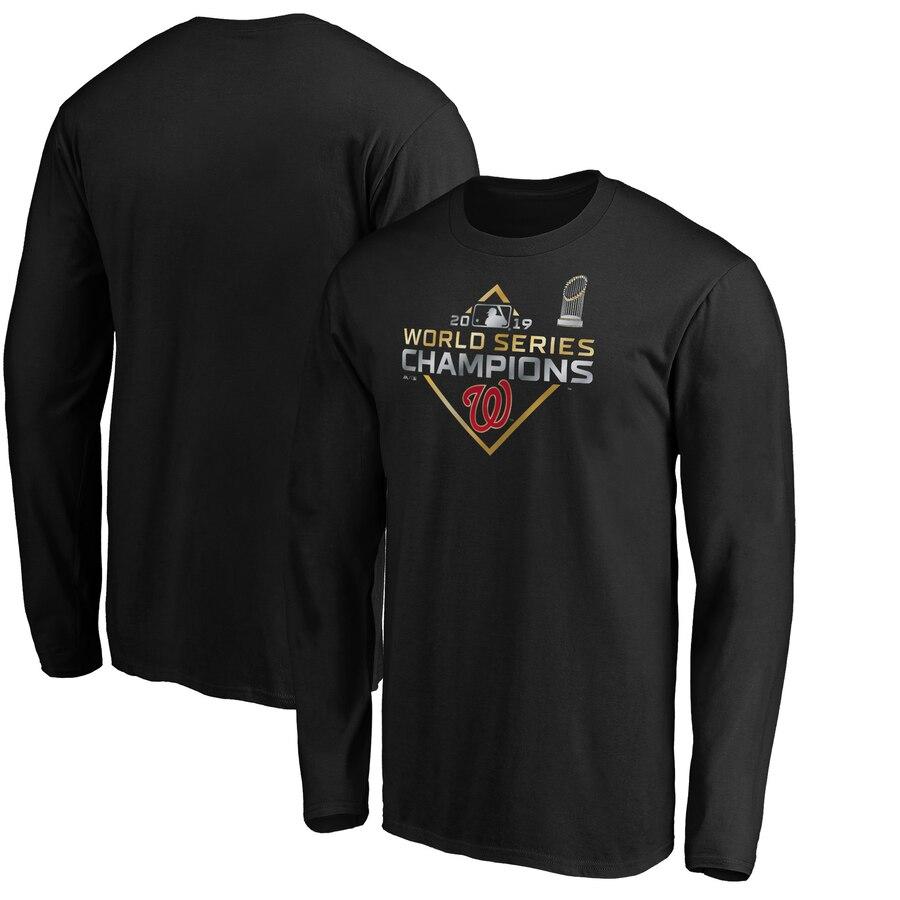 Washington Nationals Majestic 2019 World Series Champions Parade Long Sleeve T-Shirt Black
