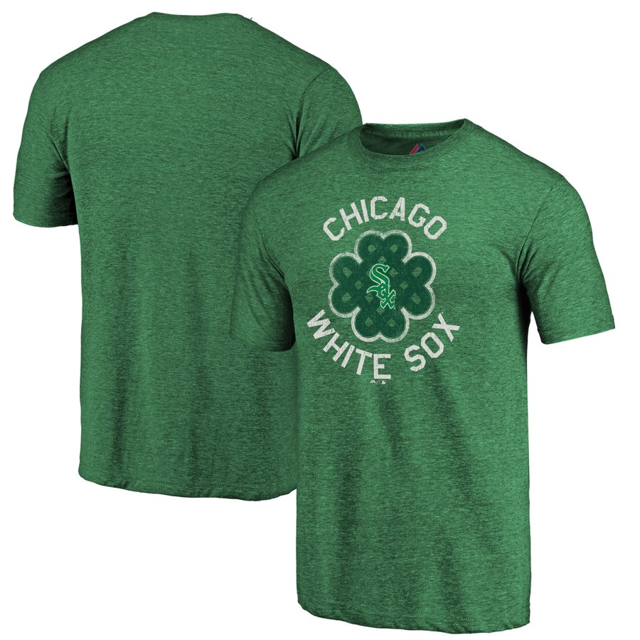 Chicago White Sox Majestic 2019 St. Patrick's Day Luck Tradition Tri-Blend T-Shirt Green