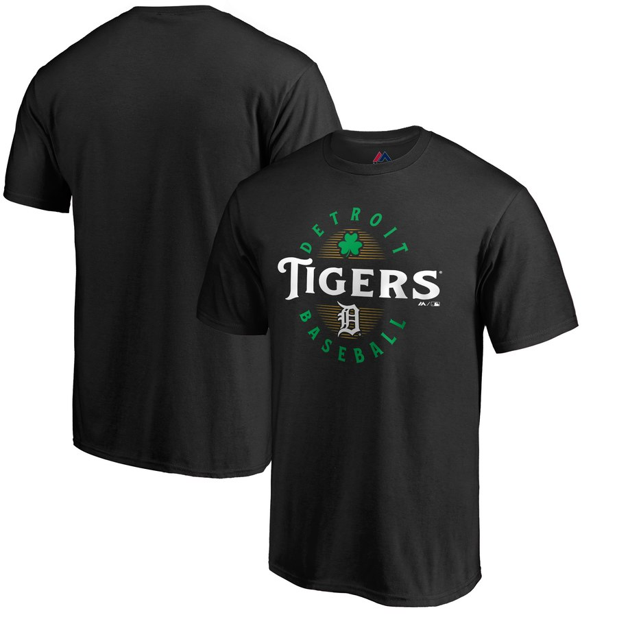 Detroit Tigers Majestic Forever Lucky T-Shirt Black