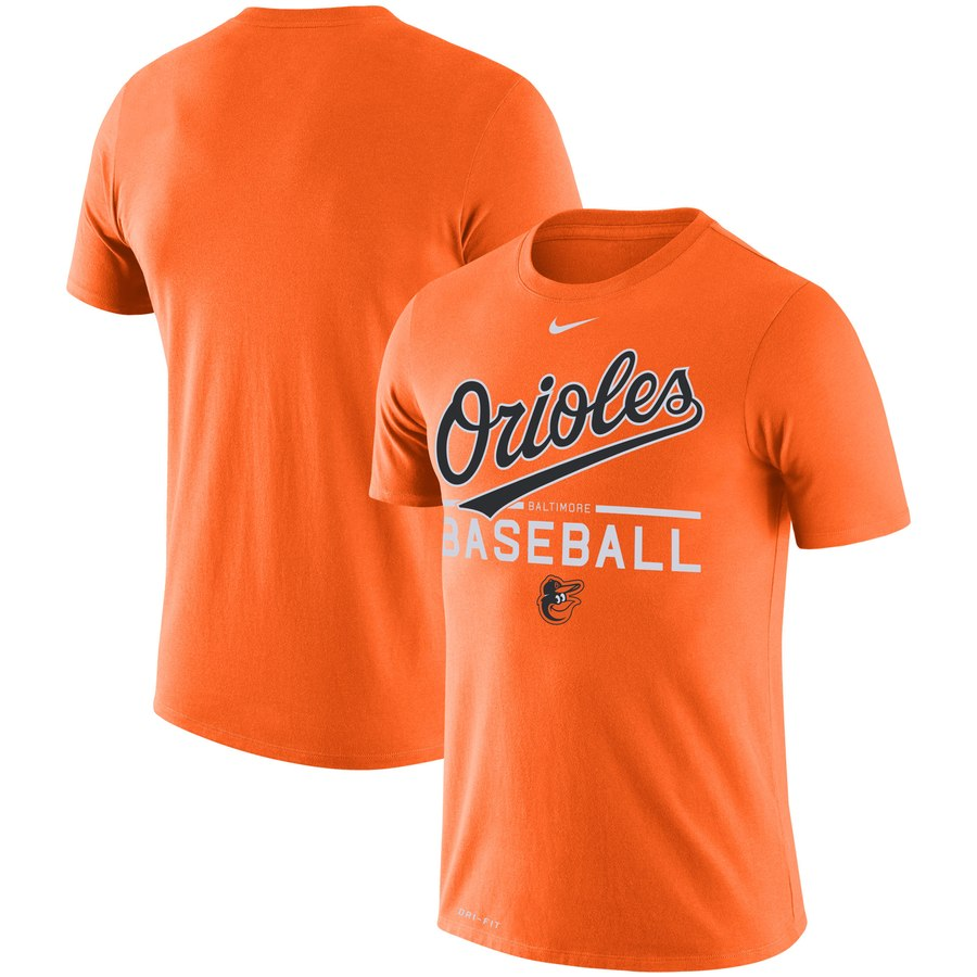 Baltimore Orioles Nike Practice Performance T-Shirt Orange