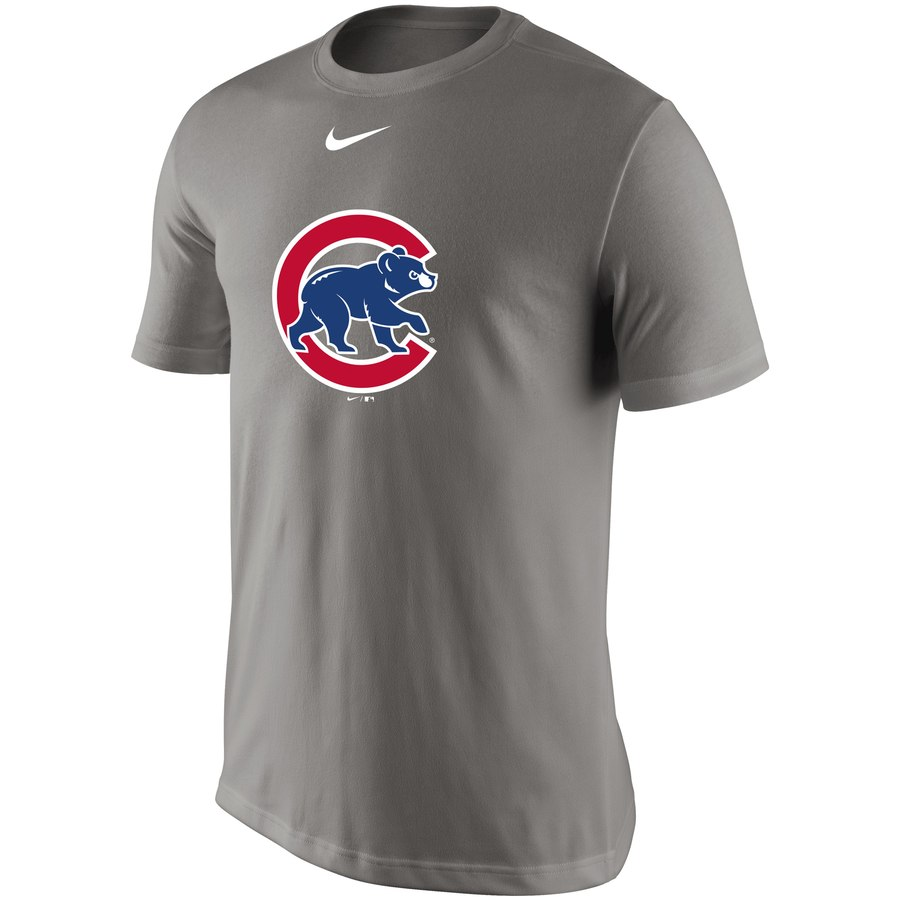 Chicago Cubs Nike Legend Batting Practice Primary Logo Performance T-Shirt Gray