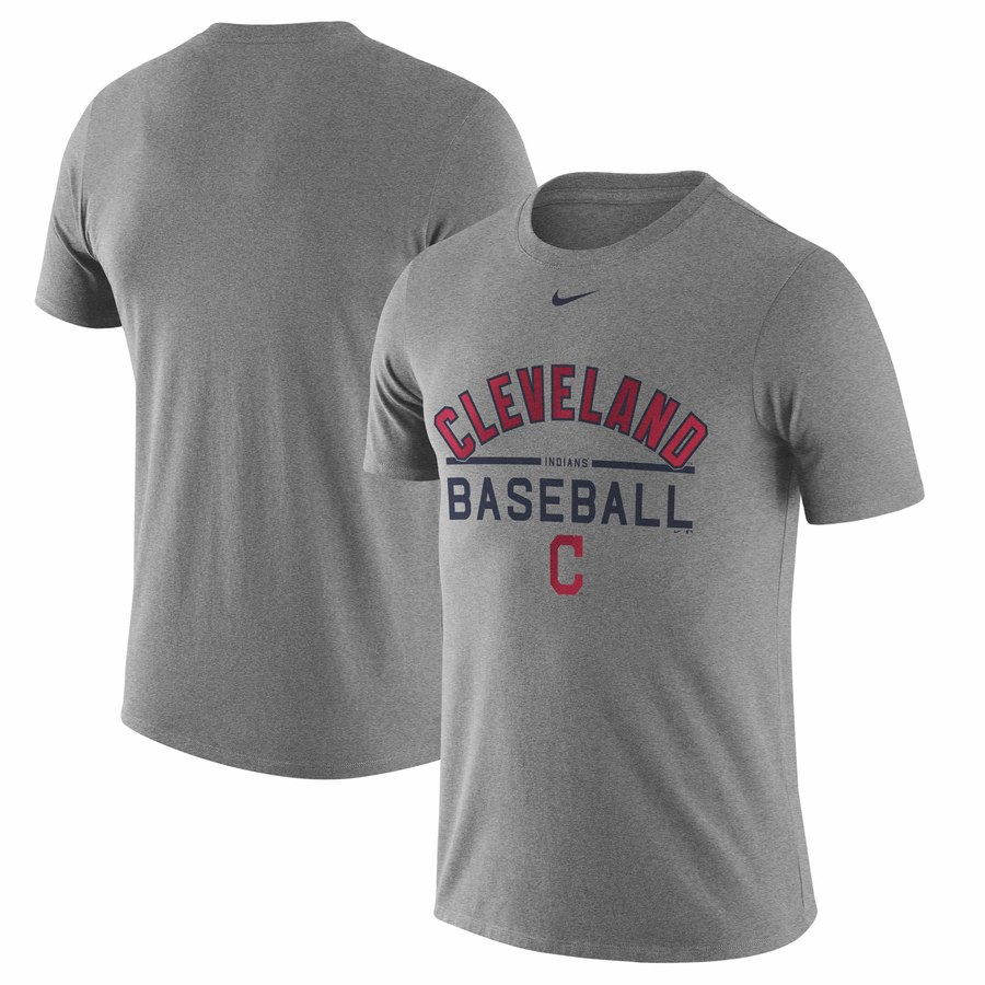 Cleveland Indians Nike Away Practice T-Shirt Heathered Gray